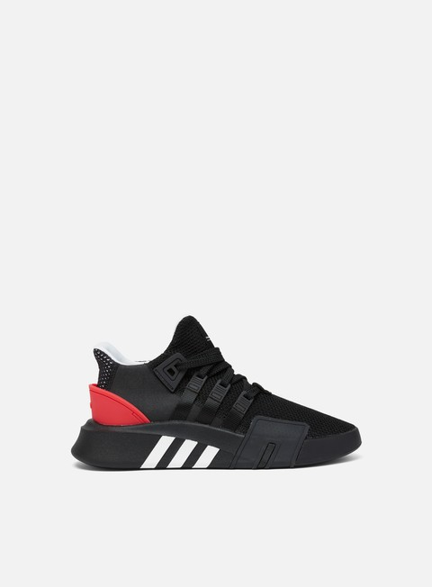 sneakers adidas originals eqt bask adv core black ftwr white hi res red
