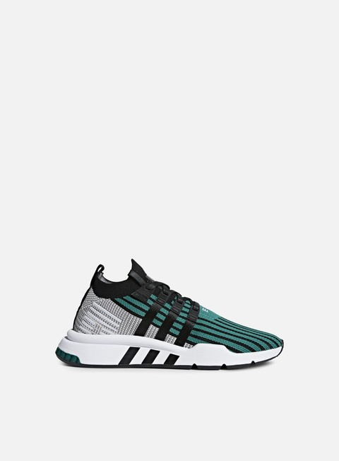 sneakers adidas originals equipment support adv mid primeknit core black core black sub green