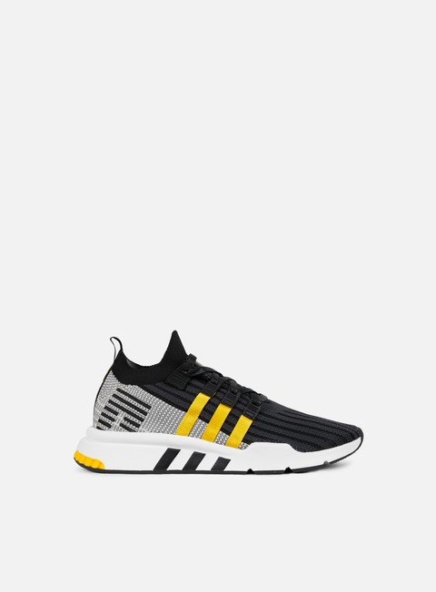 sneakers adidas originals equipment support adv mid primeknit core black eqt yellow white