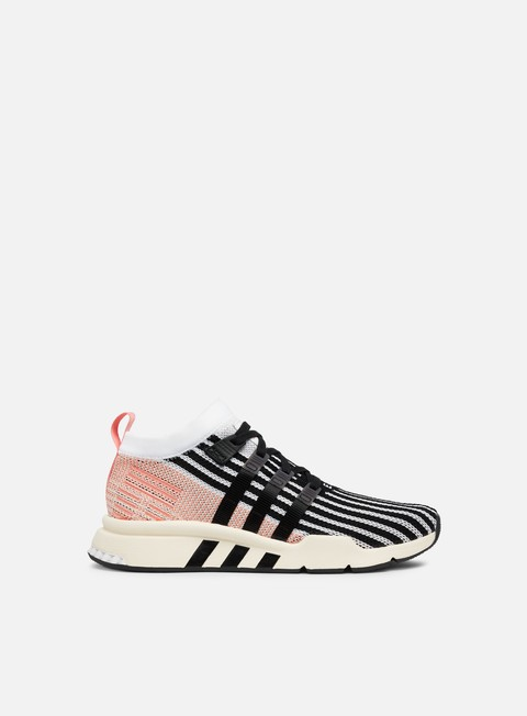 sneakers adidas originals equipment support adv mid primeknit ftwr white core black trace pink