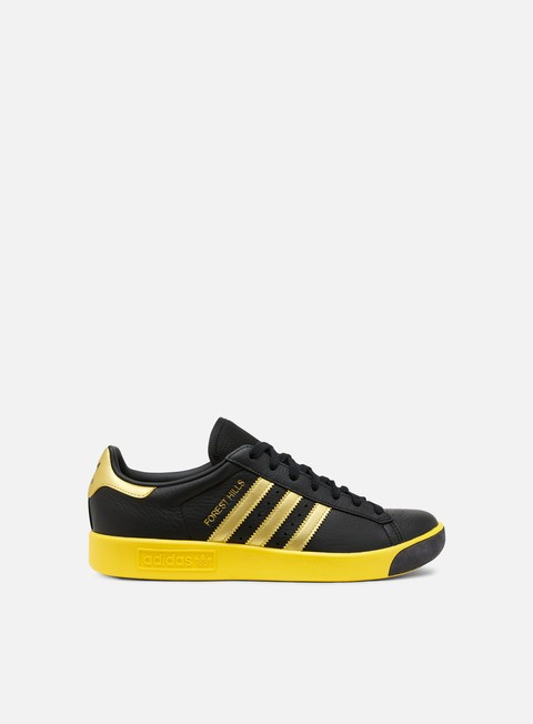 sneakers adidas originals forest hills core black gold metallic eqt yellow