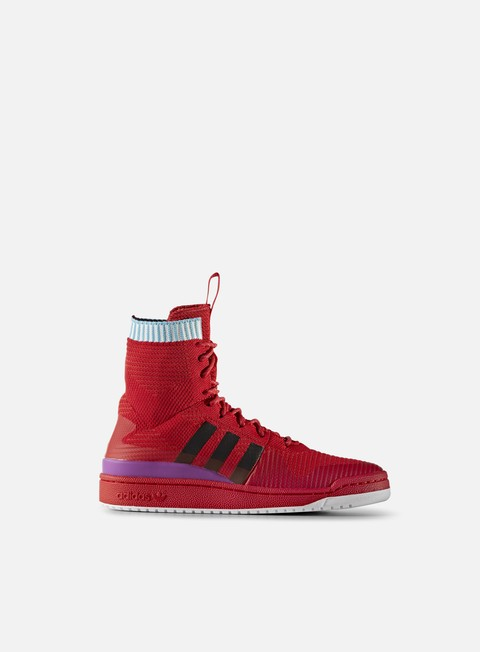 sneakers adidas originals forum winter primeknit scarlet core black shock purple