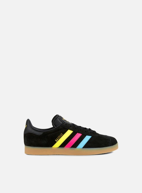 sneakers adidas originals gazelle black cyan shock pink