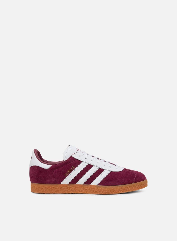 adidas gazelle burgundy mens