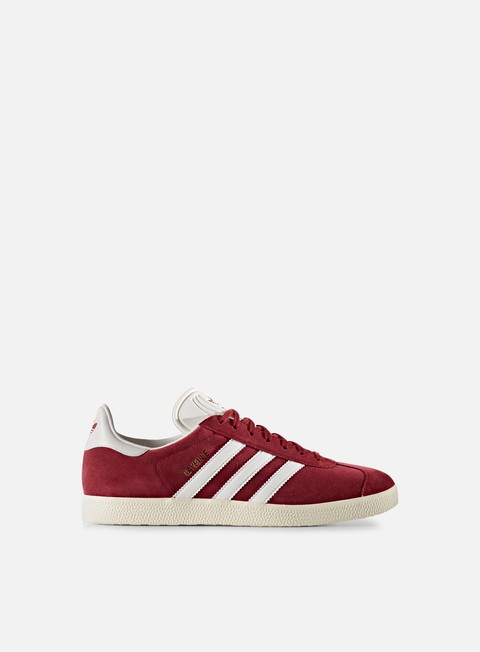 sneakers adidas originals gazelle collegiate burgundy vintage white gold metallic
