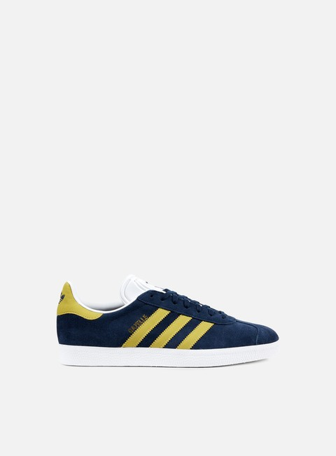 sneakers adidas originals gazelle collegiate navy gold metallic white