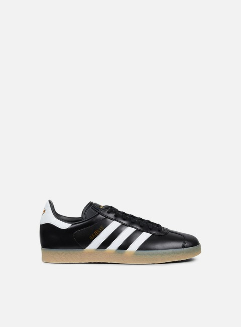 sneakers adidas originals gazelle core black footwear white gold metallic