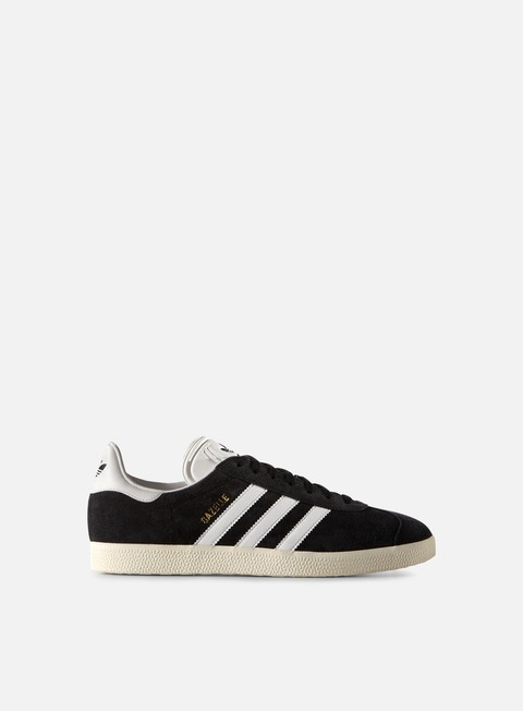 sneakers adidas originals gazelle core black vintage white gold metallic