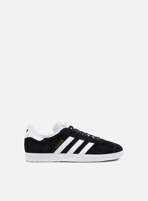 sneakers adidas originals gazelle core black white gold metallic