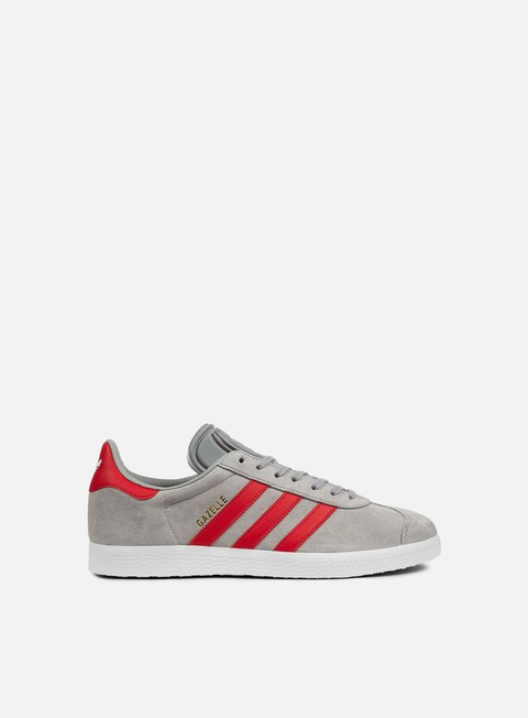 sneakers adidas originals gazelle medium grey heather solid grey scarlet