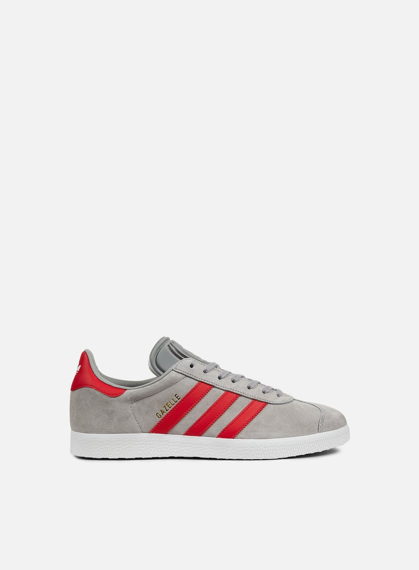 adidas Originals Gazelle Medium Grey Heather Solid Grey/Scarlet Pelle