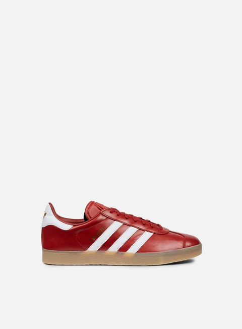 sneakers adidas originals gazelle mystery red footwear white gold metallic