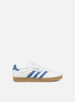 Adidas Originals - Gazelle Super, Crystal White/Trace Blue/Ftwr White