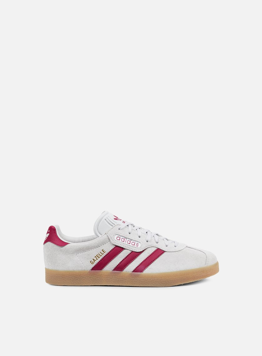 Adidas Originals - Gazelle Super, Grey One/Mystery Ruby/Gold