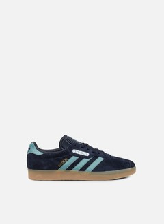 Adidas Originals - Gazelle Super, Night Navy/Vapour Steel/Gold Metallic