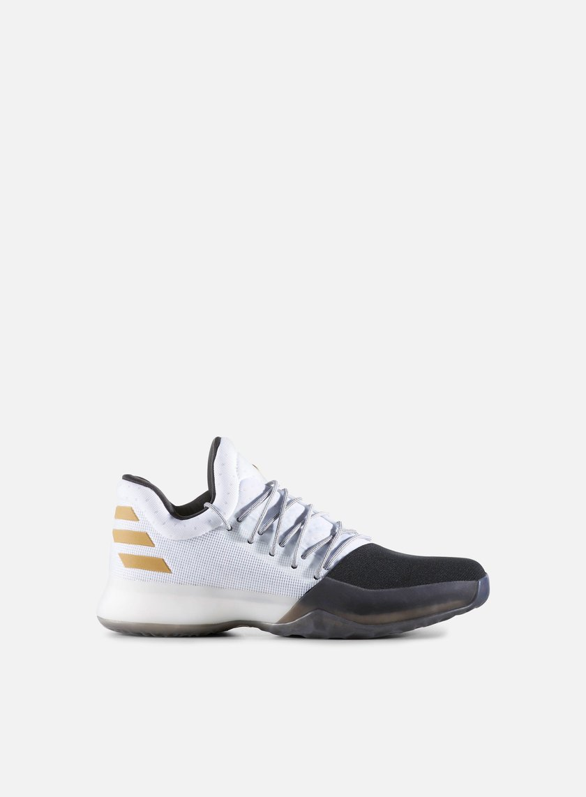Adidas Originals - Harden Vol. 1, White/Core Black/Gold Metallic