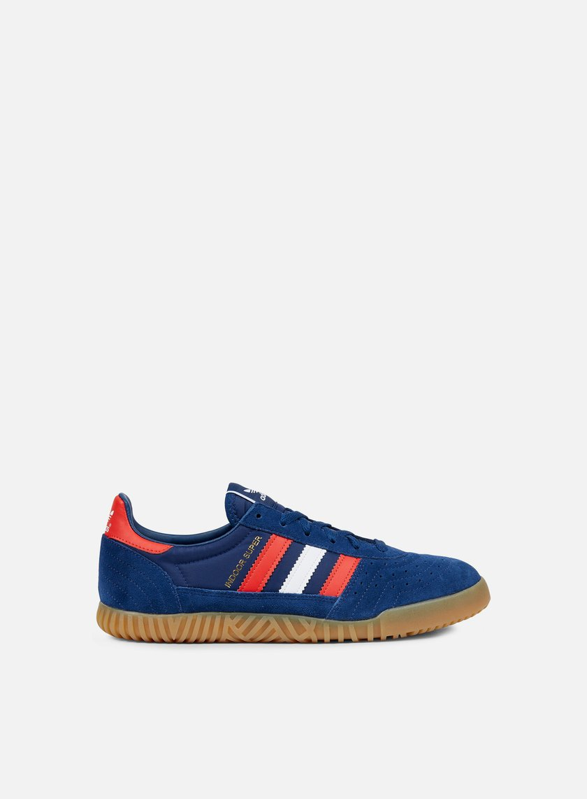 Adidas Originals Indoor Super Mystery Blue White Red BY9769 Sneakers Low