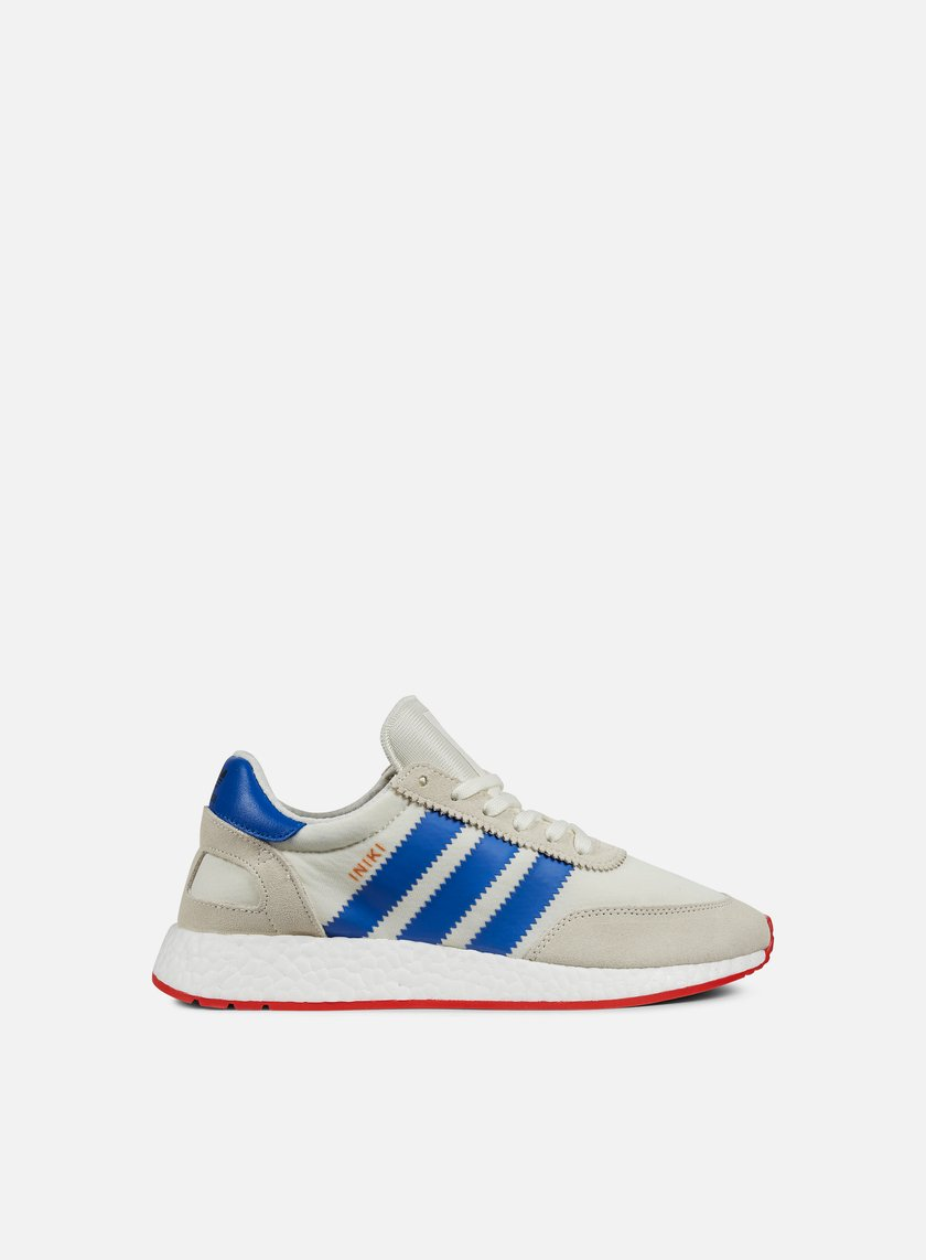 Adidas Originals - Iniki Runner, Off White/Blue/Core Red
