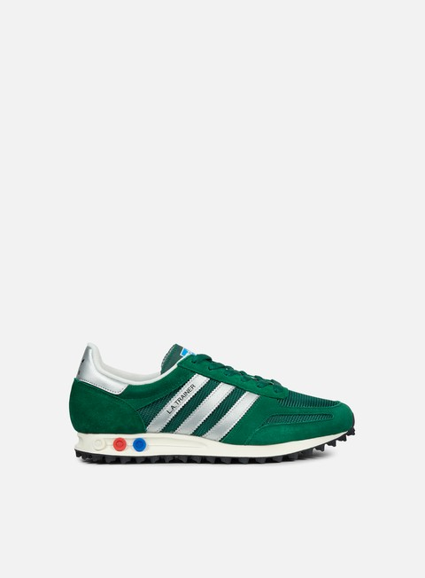 sneakers adidas originals la trainer og collegiate green metallic silver core black