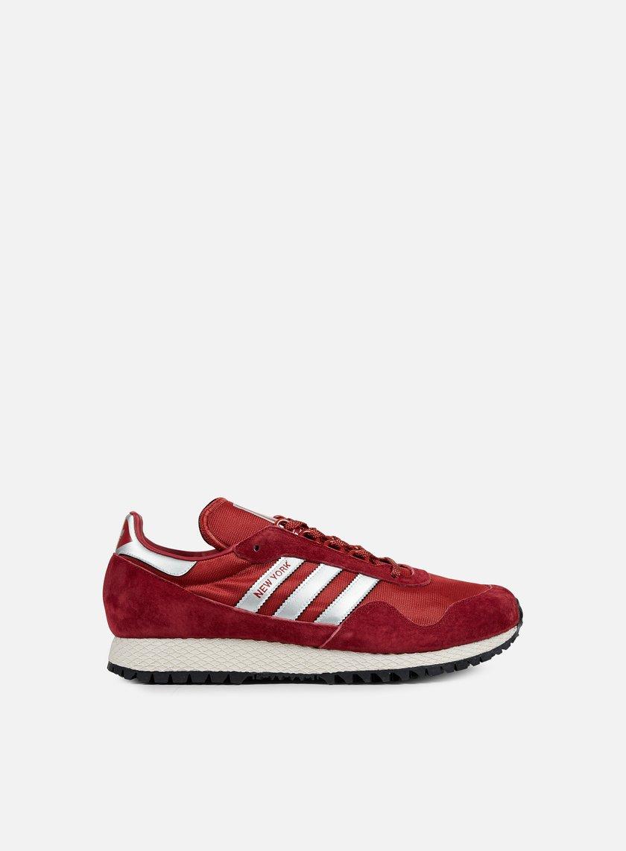 Adidas Originals - New York, Collegiate Burgundy/Metallic Silver/Mystery Red