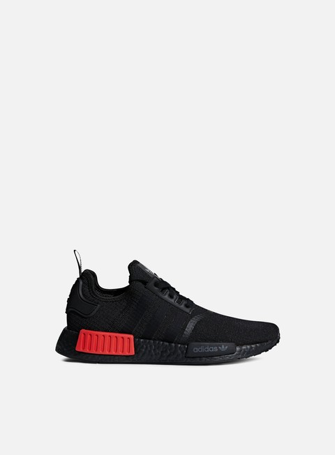 sneakers adidas originals nmd r1 core black core black lush red
