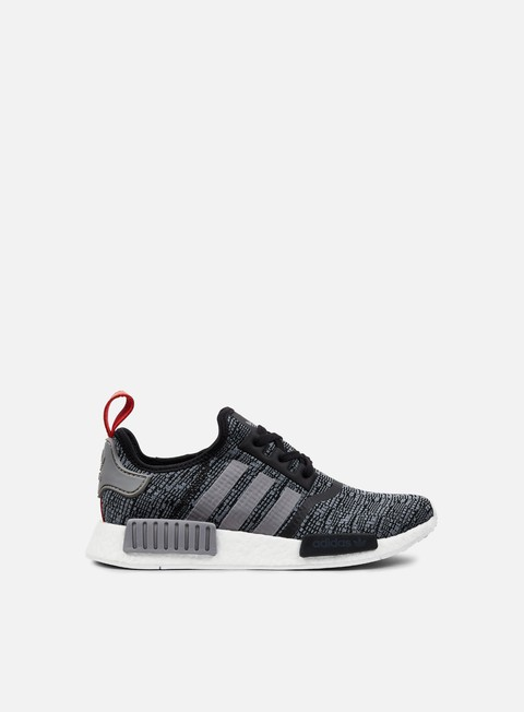 sneakers adidas originals nmd r1 core black dark grey heather solid grey