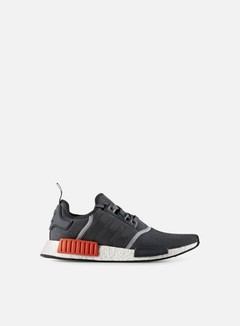 Adidas Originals - NMD R1, Dark Grey/Dark Grey/Semi Solar Red 1