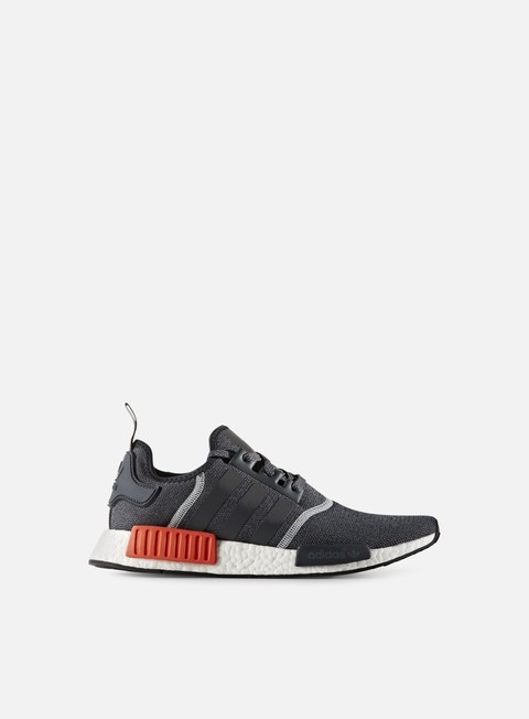 sneakers adidas originals nmd r1 dark grey dark grey semi solar red