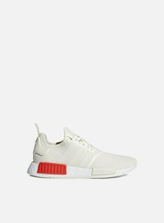 Adidas Originals - NMD R1, Off White/ Off White/Lush Red