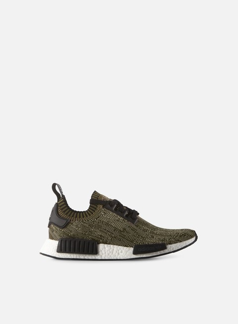 sneakers adidas originals nmd r1 primeknit olive cargo core black white