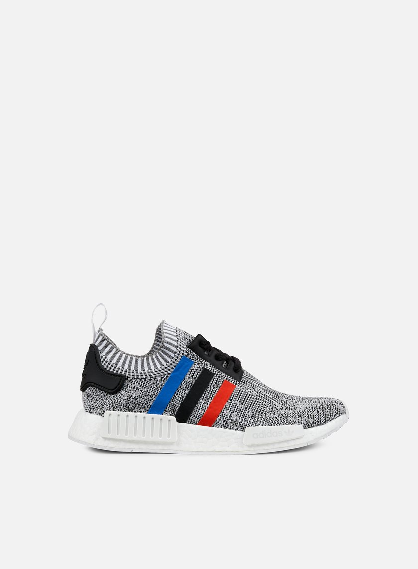 Adidas Originals - NMD R1 Primeknit, White/Core Red/Core Black