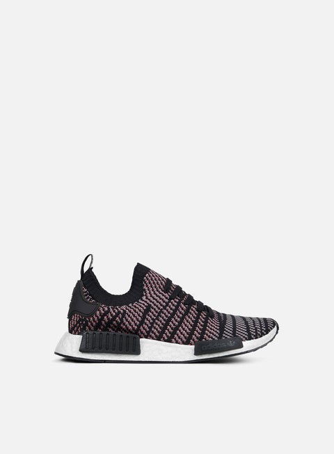 sneakers adidas originals nmd r1 stlt primeknit core black grey four solar pink