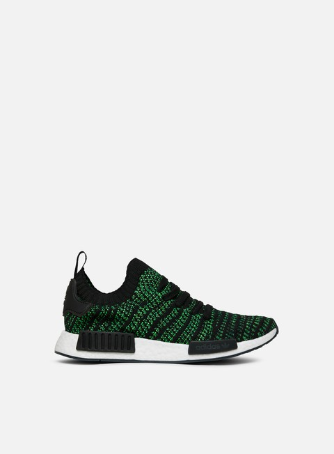 sneakers adidas originals nmd r1 stlt primeknit core black noble green bold green