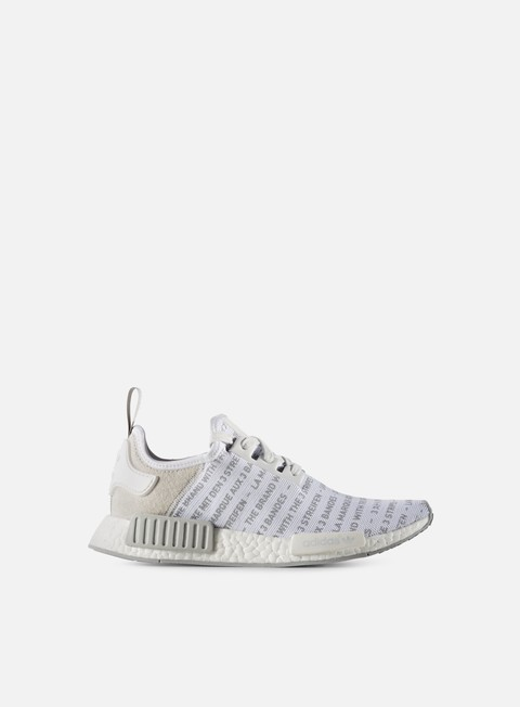 sneakers adidas originals nmd r1 white white solid grey