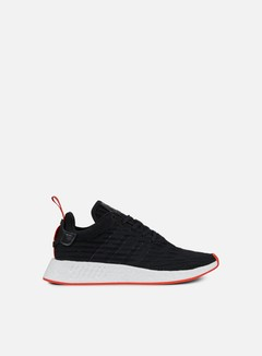 Adidas Originals - NMD R2 Primeknit, Black/Core Red 1