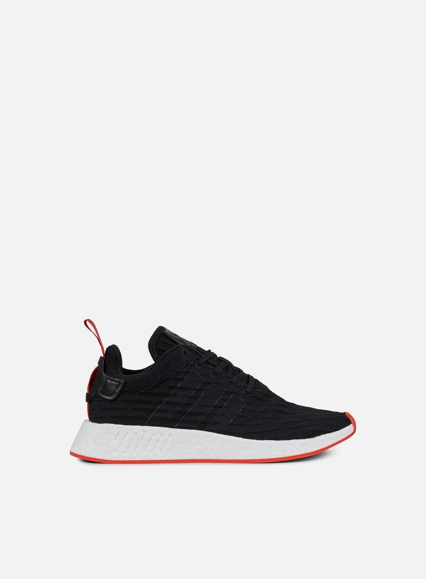 Adidas Originals - NMD R2 Primeknit, Black/Core Red