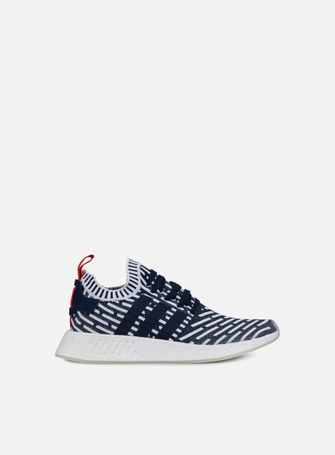 sneakers adidas originals nmd r2 primeknit collegiate navy collegiate green white