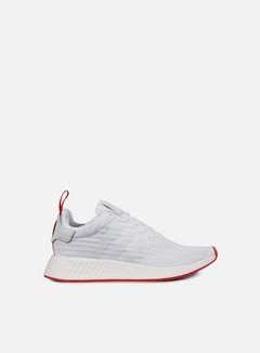 Adidas Originals - NMD R2 Primeknit, White/Core Red 1