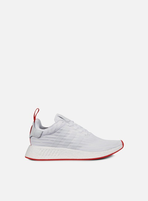 sneakers adidas originals nmd r2 primeknit white core red