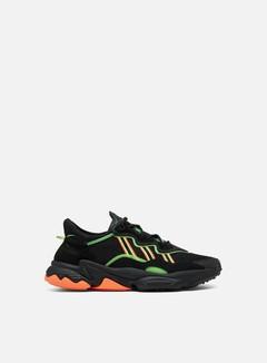Adidas Originals - Ozweego, Core Black/Solar Green/Hi-Res Coral