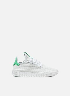 Adidas Originals - Pharrell Williams Tennis Human Race, White/White/Green Glow 1