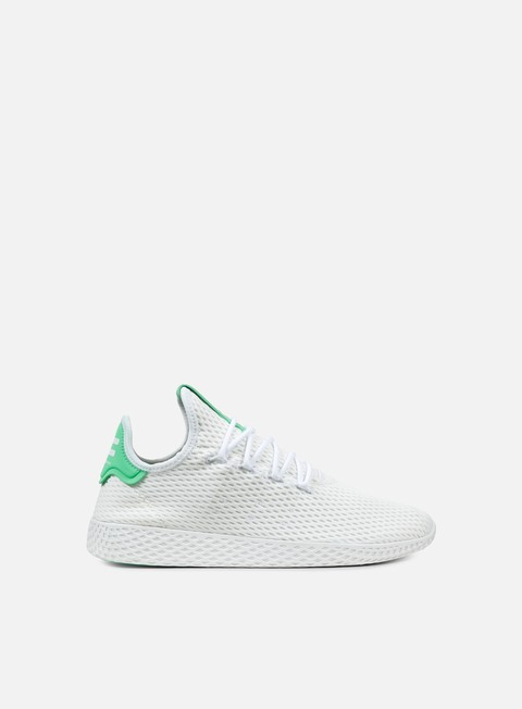 sneakers adidas originals pharrell williams tennis human race white white green glow