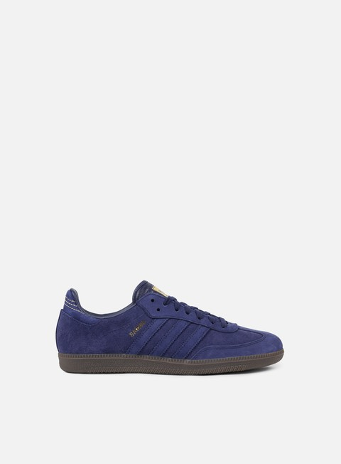 sneakers adidas originals samba fb dark blue dark blue gold metallic