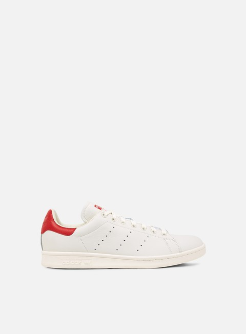 sneakers adidas originals stan smith chalk white chalk white scarlet