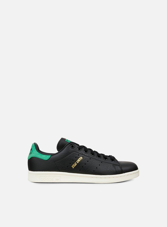 Adidas Originals - Stan Smith, Core Black/Core Black/Green