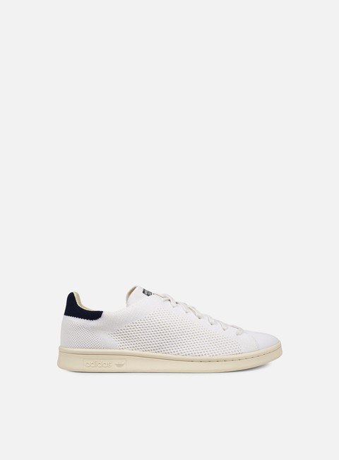 sneakers adidas originals stan smith og primeknit white chalk white blue