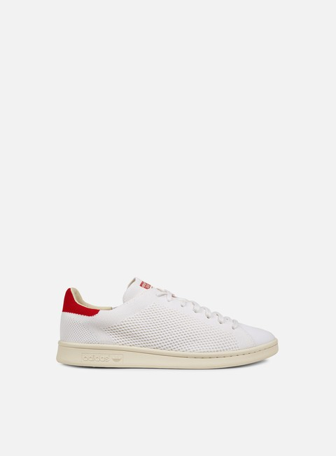 sneakers adidas originals stan smith og primeknit white chalk white red