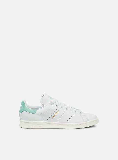 sneakers adidas originals stan smith white white energy aqua