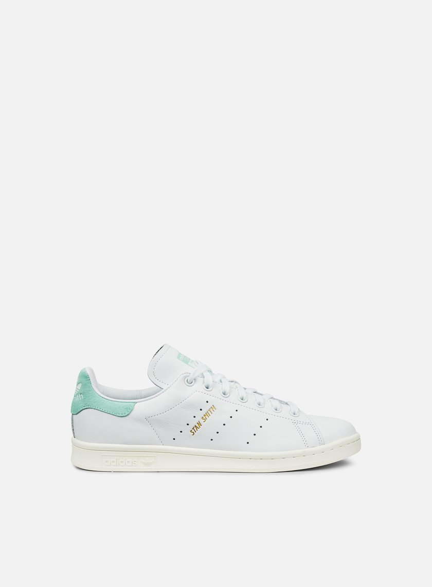 Adidas Originals - Stan Smith, White/White/Energy Aqua