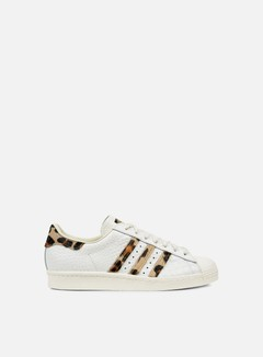 Adidas Originals - Superstar 80s Animal, Chalk White/Chalk White/Gold Metal 1
